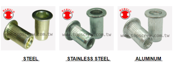 SPLINED RIVET NUT SMALL FLANGE, SPLINED RIVET NUT ,TSSS,small flange,rivet nut ,nut,COUNTERSUNK BLIND RIVET NUT, STEEL BLIND RIVET NUT,Fasteners, inserts,BLIND RIVET NUT, TOP SCREW METAL CORP,