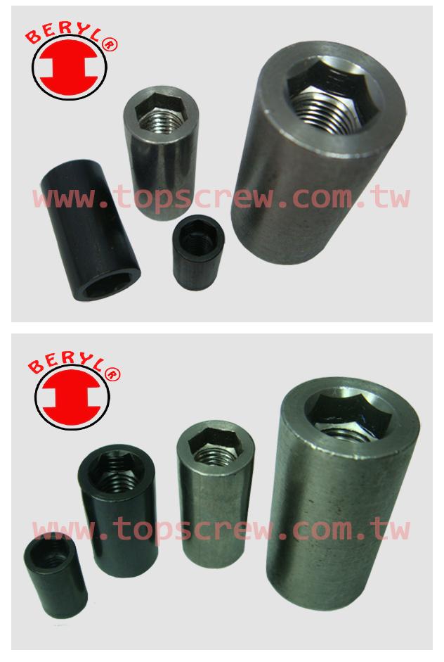 cylinder nut,barrel nut,square cylinder nut,cylinder nut with screw,nuts cylinder,top screw