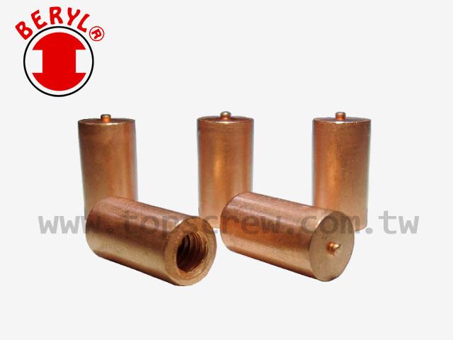 welding stud nut,stud welding nut,nut welding,tapping pad,top screw